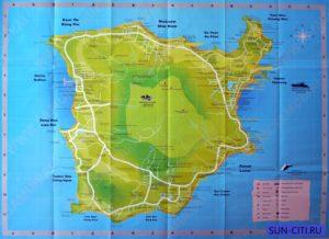 Карты и схемы острова Самуи в высоком разрешении - 7 карт