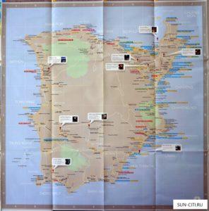 Карта Самуи - основные достопримечательности острова, рестораны, магазины