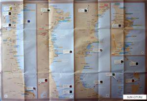 Карта Самуи - основные достопримечательности острова, пляжи и отели